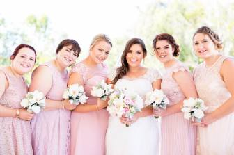 MUA: Magnifique Makeup Artistry. Photography: Life and Love Photography. Makeup by me on 4 left bridesmaids and bride.