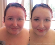 MUA: Magnifique Makeup Artistry. Before and after on one of the bridesmaids.