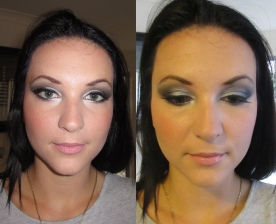 Wedding guest makeup: Silver smokey eyes